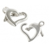 SS.925 Floating Heart Clasp 9.5mm X 8mm